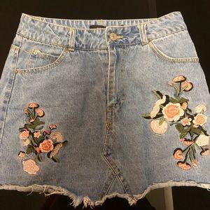 Denim skirt size small